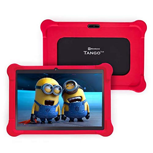 [4 Bonus Item] Simbans TangoTab 10 Inch Kids Tablet with RED Bumper Case 2020 Model, 3 GB RAM, 64 GB Disk, Android 9 Pie, WiFi, USB, HDMI, Bluetooth, 2+5 MP Camera Computer PC - TK93