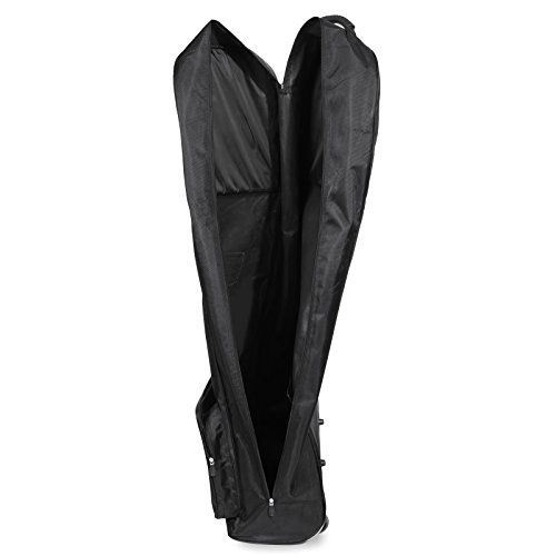 Golf Travel Bag PEATAO Padded Oxford Golf Club Travel Cover ,Black with Two Wheel (US STOCK) by PEATAO (Image #6)