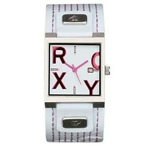 Roxy W099JL/FTSB - Reloj analógico de mujer de cuarzo con correa de piel blanca - sumergible a 50 metros