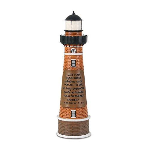 """Lighthouse Christian Products Shine Out for All to See Sculpture, 2 1/4 x 8 1/2"""""""