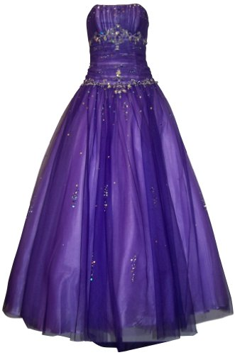 Beaded Mesh Fairy Prom Dress Formal Ball Gown, 3X, Purple (Plus Size Fairy Dress)