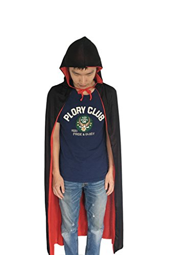 [MERRYCOCO Unisex Hooded Cape Cool Halloween Party Costume Sorcerer Cloak] (Diy Quick And Easy Halloween Costumes For Adults)