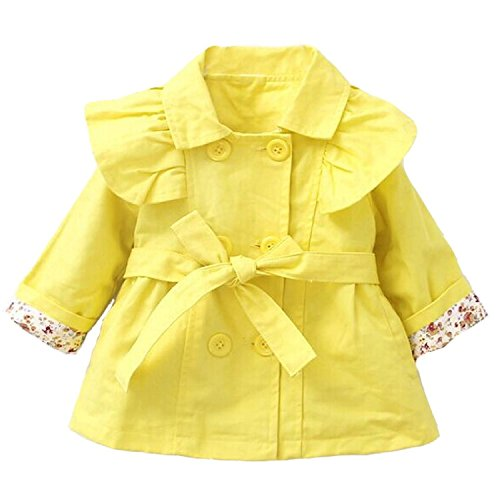 LUKYCILD Baby Girl Spring Fall Trench Jacket Outwear Coat 6-12Months/Tag (Fall Trench)