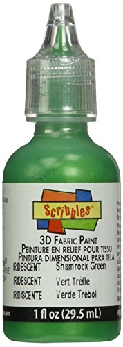 Terra Cotta Fabric Handbags - Duncan Crafts Scribbles Dimensional Fabric Paint 1 Oz. Bottle: Iridescent Shamrock Green