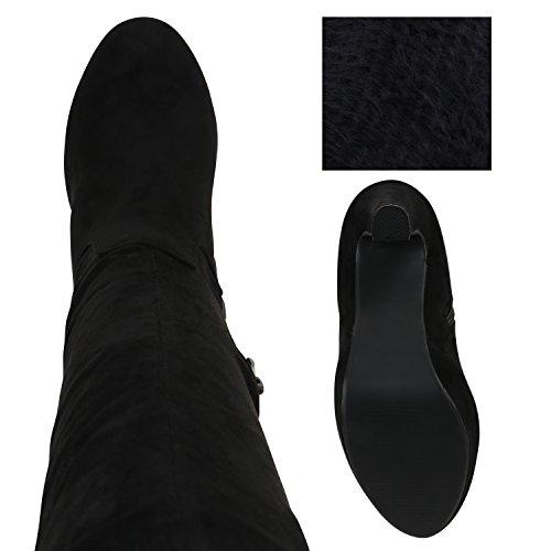 Stiefelparadies Women's Boots Black ZCJS72Gsg