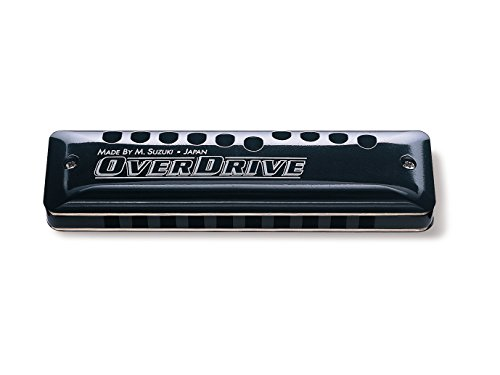 Suzuki MR-300-A Overdrive Deluxe Bendable 10-Hole Diatonic Harmonica, Key of A (Best Harmonica Player Ever)