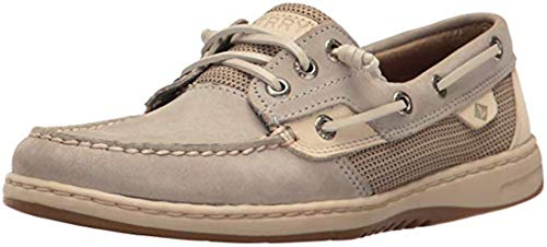 SPERRY Women's Rosefish Boat Shoe, Light Grey, 5 Medium US (Top Sperry Shoes For Women)
