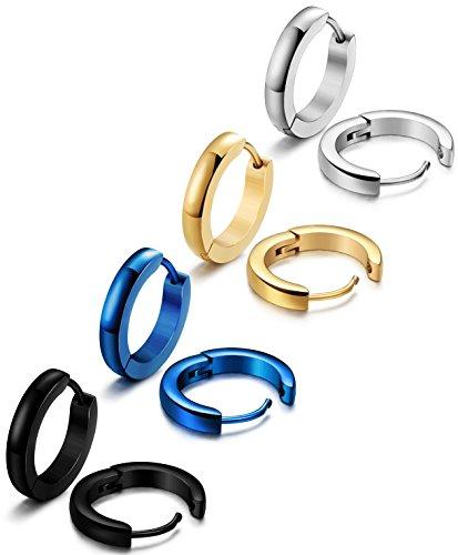 ORAZIO Stainless Earrings Huggie Piercing