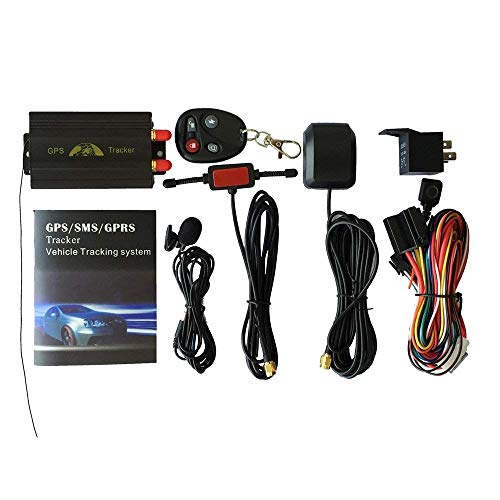 ZHCKyee GPS/SMS/GPRS Tracker TK103B Vehicle Tracking System with Remote Control (Best Bus Tracking System)