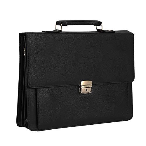 Shopizone� Leather Briefcase Bags Business Handbags Shoulder Messenger 14 Inch Laptop Bag for Men Brown