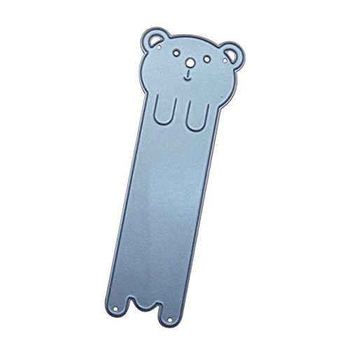 Braceus Cartoon Cute Bear Animal Tag Bookmark Scrapbooking Card Making DIY Cutting Dies