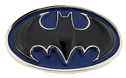 Batman Belt Buckle Black Bat Blue Oval Finished Cowboy Style American Superhero