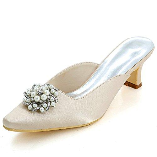 Low Plattform Elobaby 5 Ferse Geschlossene Frauen Schuhe Zehe Hochzeit Satin 5cm Braut Heels Prom Kleid wqSXqxr4vH