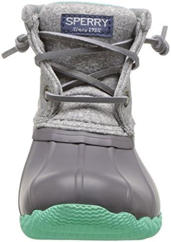 Grey//Mint 6 Medium US Big Kid Sperry Girls Saltwater Boot Snow