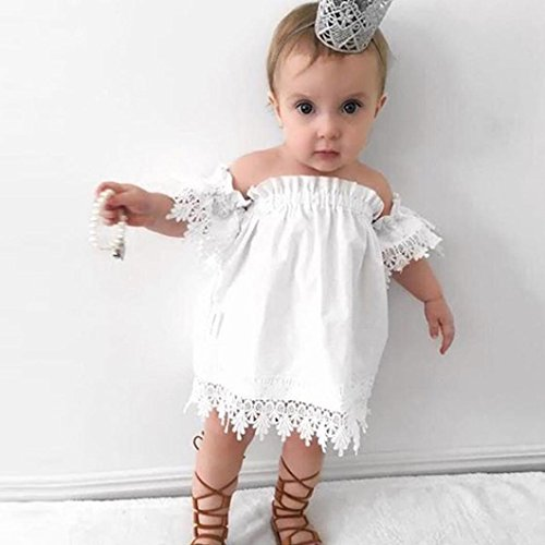 Price comparison product image Wensltd Toddler Girls Lace Party Princess Dress Sundress Top Wedding Dress Casual Dress (3T, White)