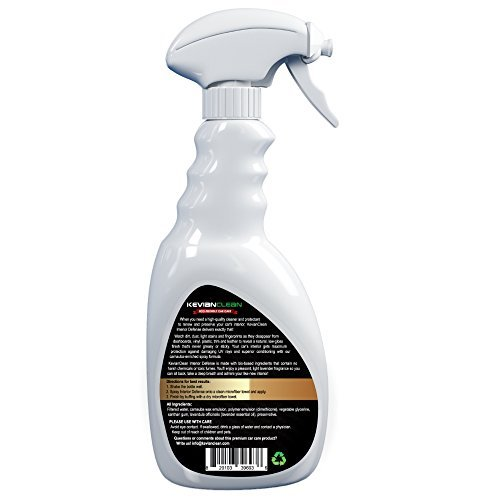 KevianClean Interior Defense Car Vinyl Protectant Dashboard Cleaner - Cleans and Protects Plastic, Door Trim & Rubber - Best Treatment for Bonded, PU & Faux Leather Furniture - Matte Finish 24 oz
