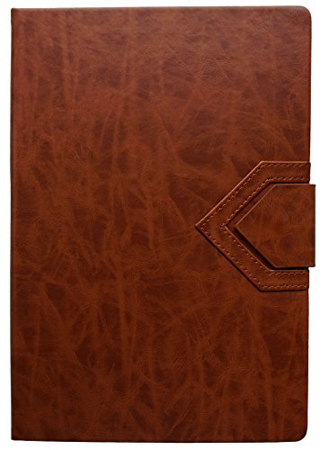 2018 Large Brown Dinira Password Journal Notebook 7x10 Inches, Bonded Leather, Sewn Binding & Magnetic Closure with a Guide to Hiding Your Passwords in Plain Sight