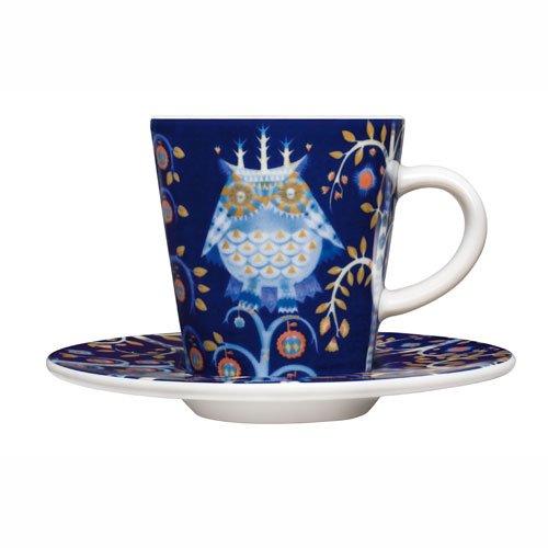 Espresso Taika Cup - iittala Taika Blue Espresso Cup and Saucer
