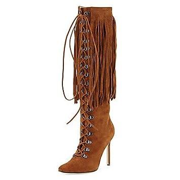 DESY Mujer Botas Botas de Moda Zapatos formales Semicuero Invierno Casual Vestido Botas de Moda Zapatos