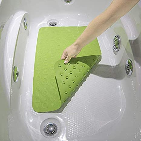 Amazon.com: JOYLINK Antislip Antibacterial Bath Tub Mat, 16 x 28 inches, Green: Home & Kitchen