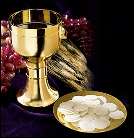 Chalice with Paten Brass/Gold Plate 14 oz,3 3/4 Diax6 3/4 H,5 Dia Paten