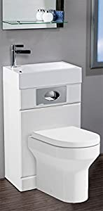 Futura Space Saving Toilet And Basin Pack