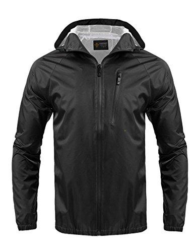 Jackets Cycling Mens Technical (Jinidu Men's Classic Rain Jacket Outdoor Hiking Running Cycling Coat)