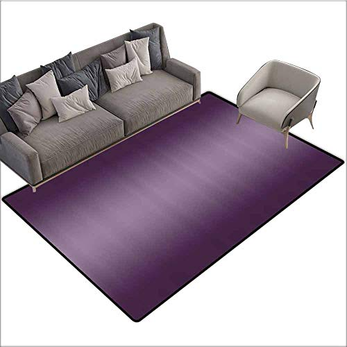 Polyester Non-Slip Doormat Rugs Colorful Ombre,Hollywood Theater Inspired Purple Colored Modern Design Room Decorations,Plum 60