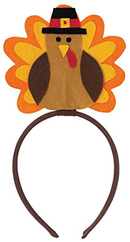 Amscan Thanksgiving Festive Turkey Headbopper Wearables Party Supplies (12 Piece), Multicolor, 10 X 5 by Amscan