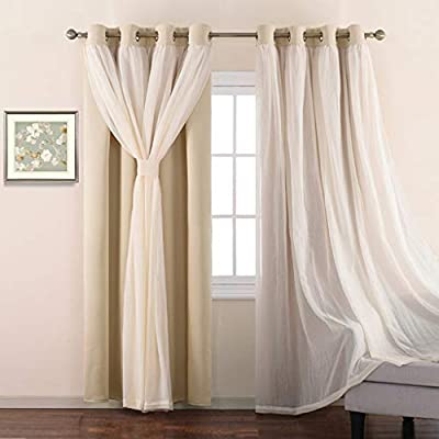 NICETOWN Grommet Voile Meets Blackout Curtain Panel