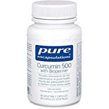 Pure Encapsulations - Curcumin 500 with Bioperine - Hypoallergenic Curcumin C3 Complex with Bioperine for Antioxidants and Good Health - 60 Vegetable Capsules