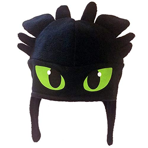 Adult Size Fleece Green Eyed Dragon Costume Hat - Machine Washable - Hand Made in The USA]()