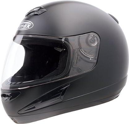 ,1 Pack Gmax GM38 unisex-adult full-face-helmet-style Motorcycle Street Helmet Flat Black,Large