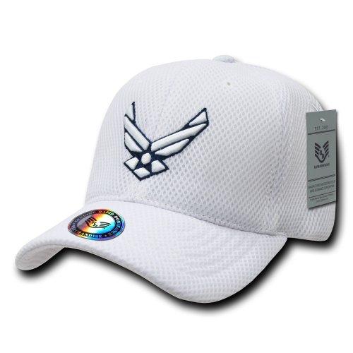 Rapiddominance Air Force Air Mesh Military Cap, White
