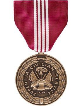 Army Superior Civilian Service Award Full Size Medal Civilian Service Medal
