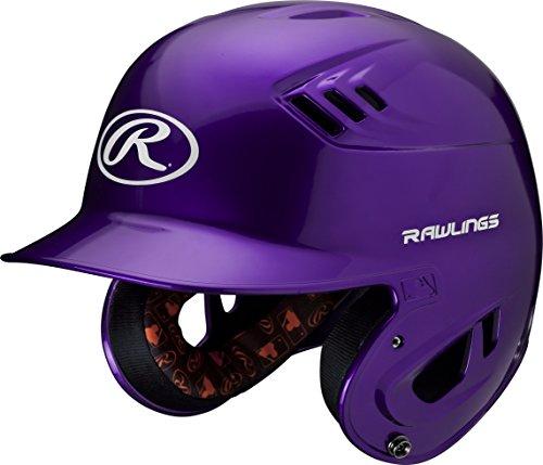 (Rawlings R16 Series Metallic Batting Helmet, Purple, Junior)