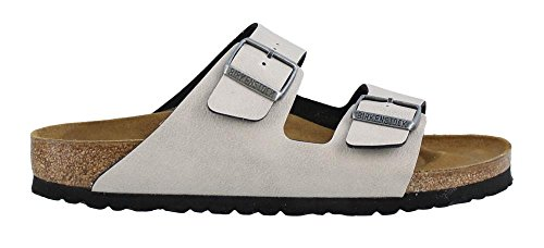 Birkenstock Women's Arizona  Birko-Flo Stone Birko-flor Pull Up Sandals - 38 M EU / 7-7.5 B(M) US Women / 5-5.5 D(M) US Men