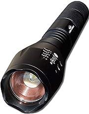 Militaire Zaklamp LED 1000 lumen + batterij 18650 Oplaadbaar - King Mungo KM-L12 - Krachtige zaklamp hoge kwaliteit incl oplaadbare batterij
