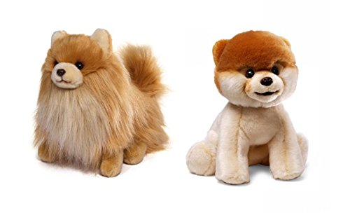 Set of 2 Gund The World's Cutest Dog Stuffed Plush - Boo and Buddy
