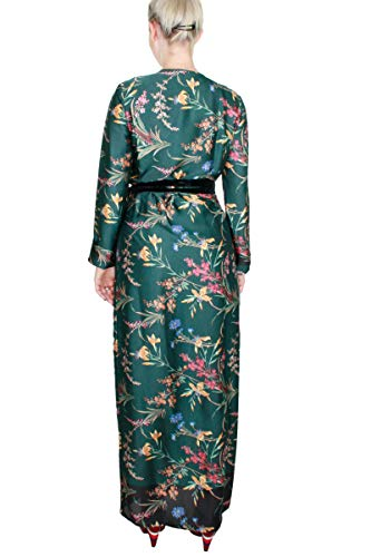 Grün Kocca Kleid Verde Fantasia Damen Floreale Empire AAqwfOP