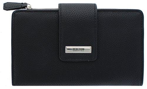 Kenneth Cole Reaction Whitney Women's Utility Clutch Wallet (BLACK) - Tan Womens Wallet