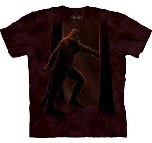 The Mountain Bigfoot Adult T-Shirt, Brown, Medium