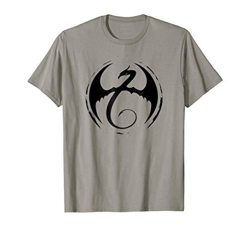 - Marvel Iron Fist Classic Dragon Logo Graphic T-Shirt