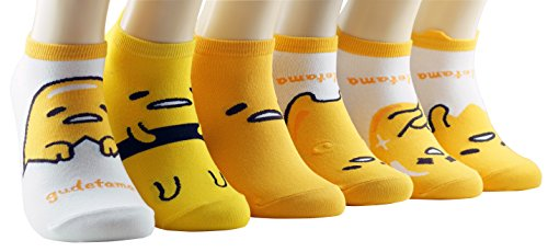 Women Girl's Lovely Cartoon Casual Socks (Gudetama)