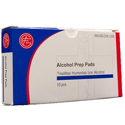 Amazon.com: Genuine First Aid Alcohol Prep Pads, 10/Box: Health & Personal Care