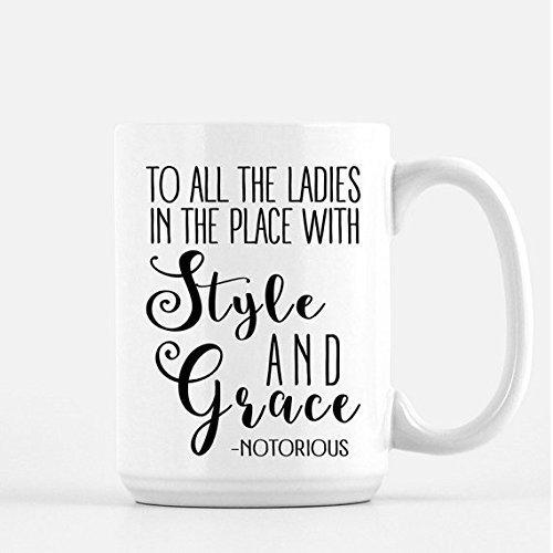 Notorious BIG Coffee Mug - Funny Coffee Mug - Gifts -Coffee Cup - Humor - Style and Grace - Rap