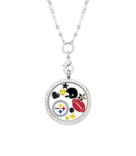 (Final Touch Gifts Pittsburgh Steelers Floating Locket with 32