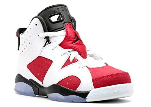 Jordan Air Retro 6 BP Little Kids Shoes White/Carmine-Black 384666-160 (2.5 M US) (Air Jordan Vi 6 Retro Carmine 2014)
