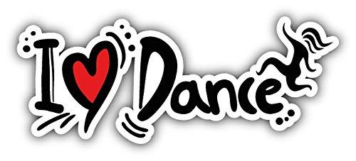 - I Love Dance Car Bumper Sticker Decal 6'' X 3''
