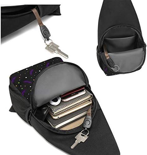 ハロウィン コウモリ 斜め掛け ボディ肩掛け ショルダーバッグ ワンショルダーバッグ メンズ 多機能レジャーバックパック 軽量 大容量